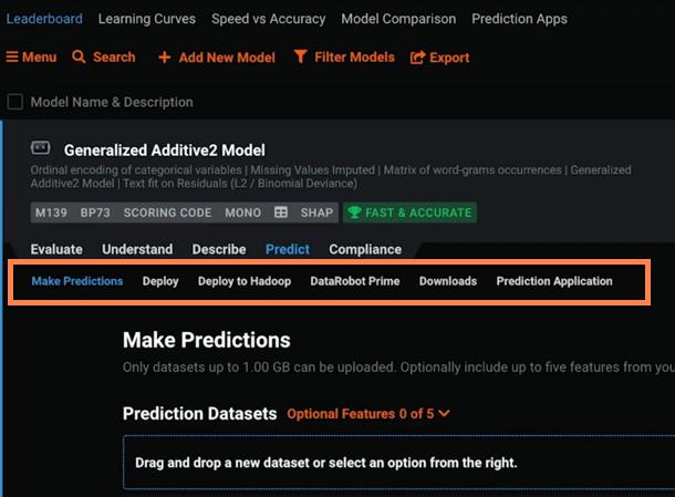 Figure 1. Ways to get predictions from DataRobot