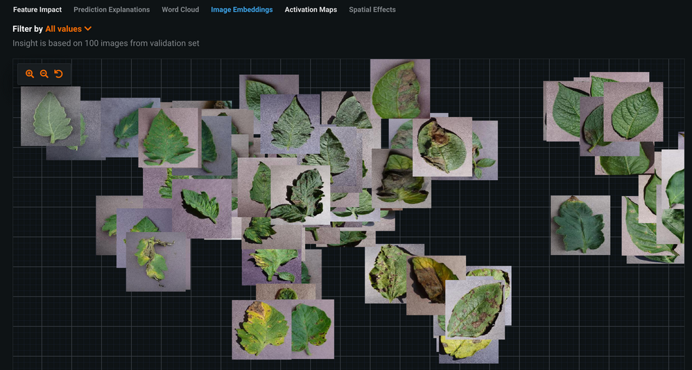 Figure 5. Image Embeddings showing what images were clustered together due to similar image features