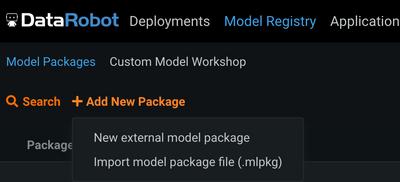 Figure 17. Add external model package