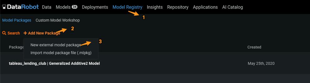 Figure 3. Model Registry