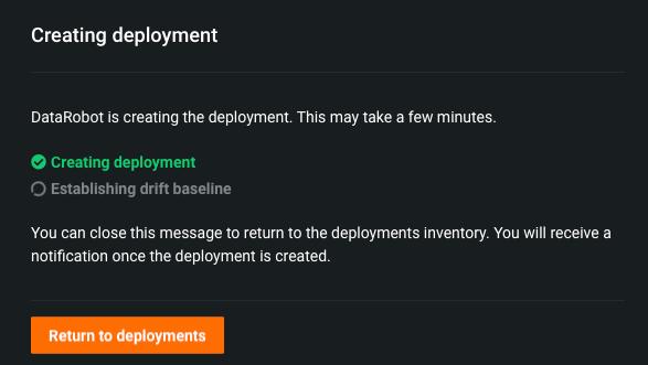 Figure 7. Created Deployment