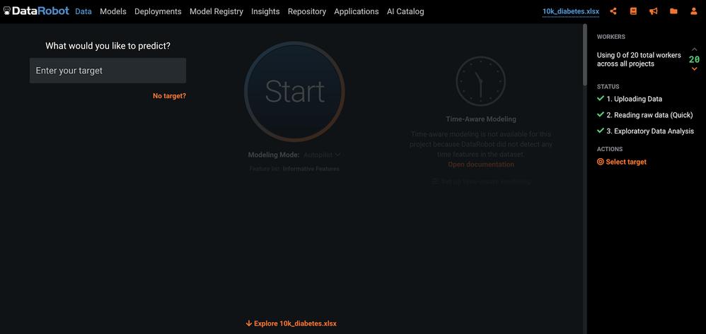 Figure 2. Start screen
