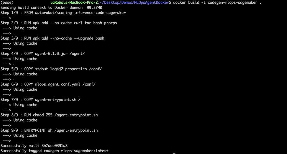Figure 14. Creating Docker image