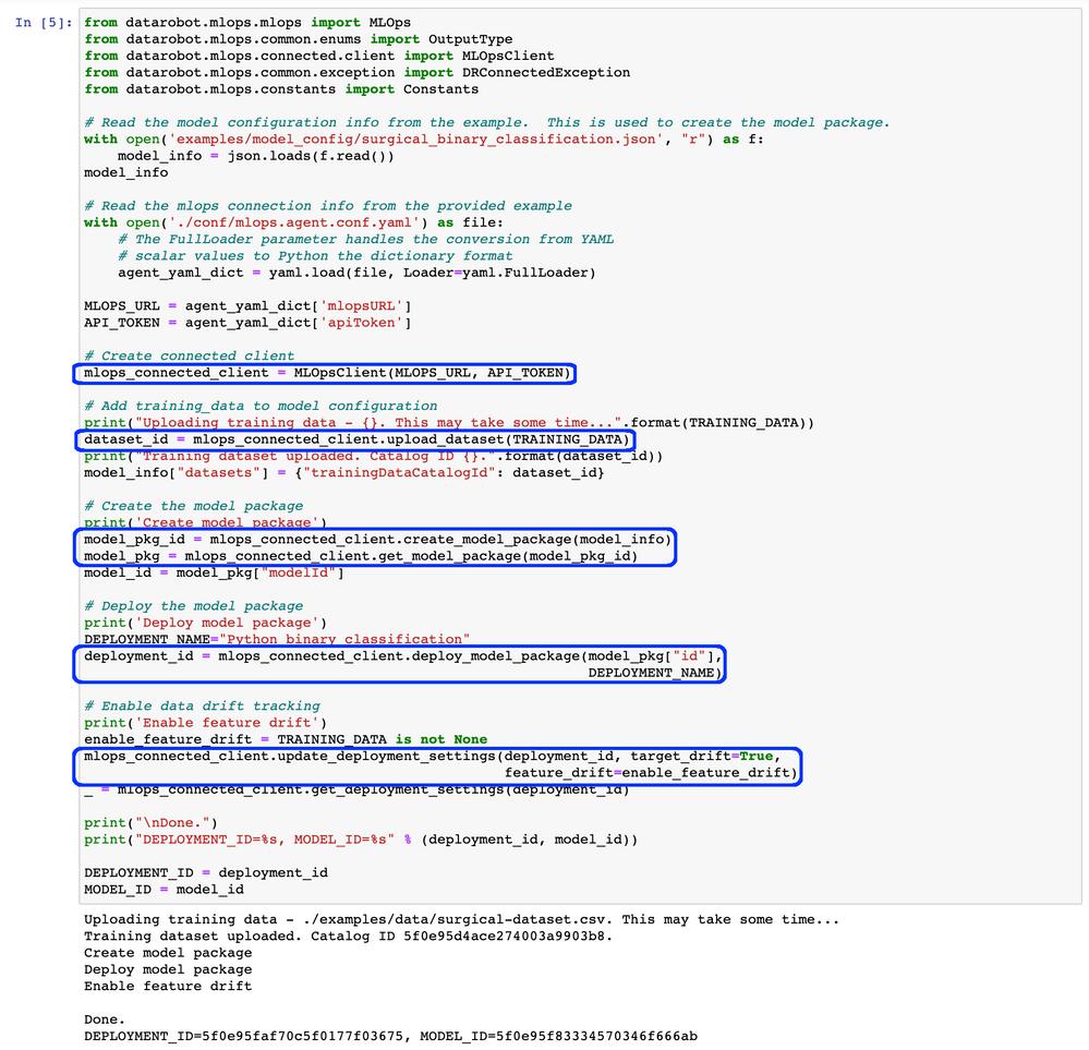 Figure 9. Register the model as an MLOps model package