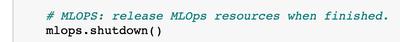 Figure 14. Shut down the MLOps object
