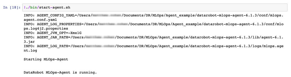 Figure 7. Starting the MLOps agent (start-agent.sh)