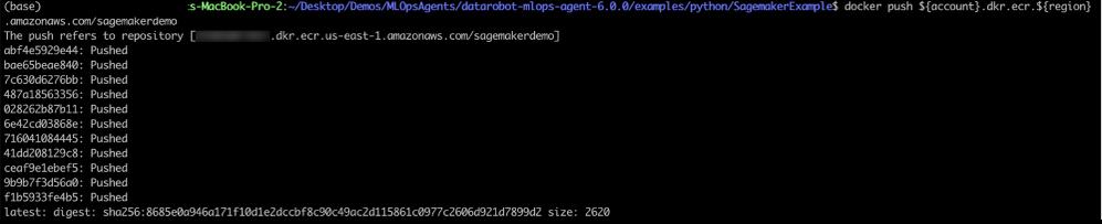 Figure 18. Docker push results