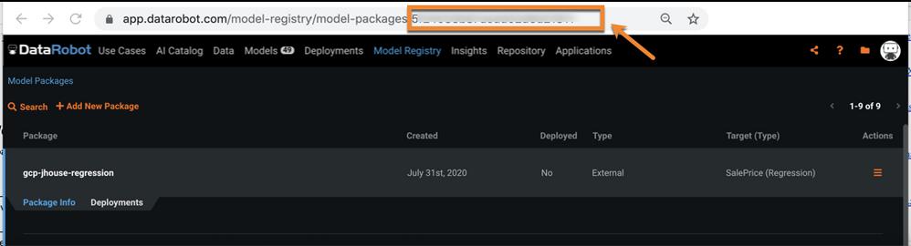 Figure 11. Get MLOps Model ID