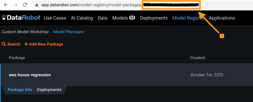 Figure 8. Get MLOps Model ID
