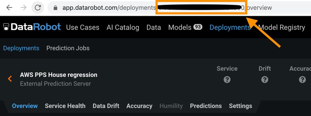 Figure 9. Get MLOps Deployment ID