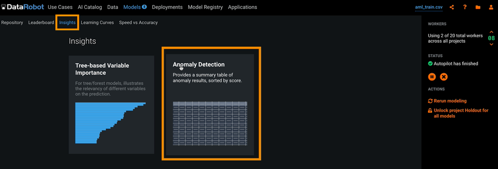 Figure 6. Anomaly Detection Insight