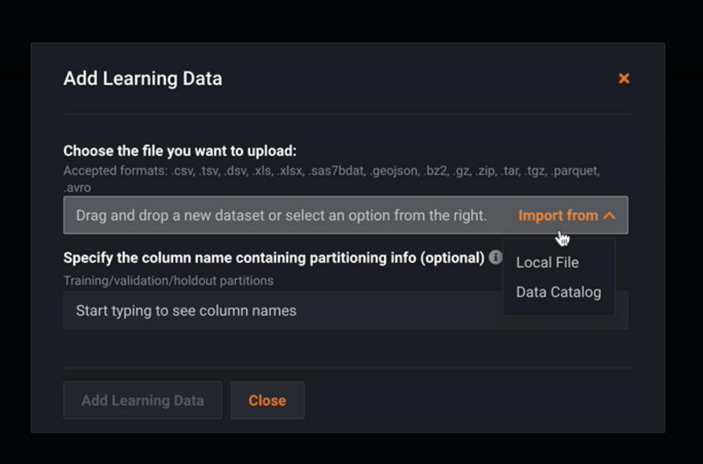 Figure 18. Add Learning Data for training model