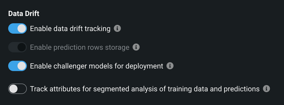 Figure 2. Enable challenger models